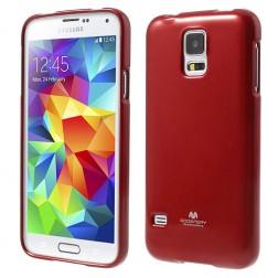 """Mercury"" apvalks - sarkans (Galaxy S5 / S5 Neo)"