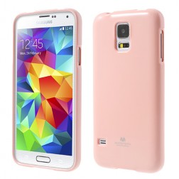 """Mercury"" apvalks - gaiši rozs (Galaxy S5 / S5 Neo)"