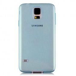 Planākais TPU dzidrs apvalks - zils (Galaxy S5 / S5 Neo)
