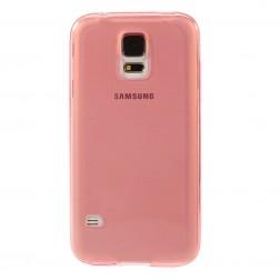 Planākais TPU dzidrs apvalks - sarkans (Galaxy S5 / S5 Neo)
