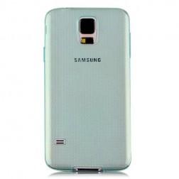 Planākais TPU dzidrs apvalks - zaļš (Galaxy S5 / S5 Neo)