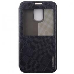 """""""Baseus"""" Brocade atvēramais maciņš - melns (Galaxy S5 / S5 Neo)"""