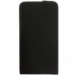 """""""Retro"""" vertikāli atvēramais futrālis - melns (Galaxy S5 / S5 Neo)"""