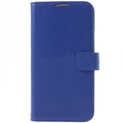 """""""Lychee"""" atvēramais futrālis - zils  (Galaxy S5 / S5 Neo)"""