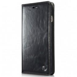 """""""CaseMe""""  solīds atvēramais ādas maciņš - melns (Galaxy S5 mini)"""