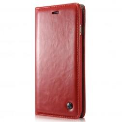 """""""CaseMe""""  solīds atvēramais ādas maciņš - sarkans (Galaxy S5 mini)"""
