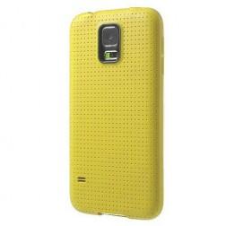 """""""Dots"""" cieta silikona (TPU) apvalks - dzeltens (Galaxy S5 mini)"""