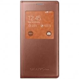"""""""Samsung"""" S View Cover atvērams maciņš - zelta (Galaxy S5 mini)"""