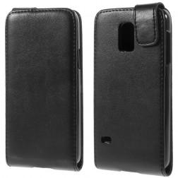 Vertikāli atvēramais maciņš - melns (Galaxy S5 mini)