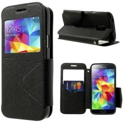 """""""Roar"""" atvēramais ādas maciņš - melns (Galaxy S5 mini)"""