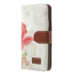"""""""Spring"""" atvērams maciņš - balts (Galaxy S5 / S5 Neo)"""
