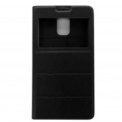 """""""Fashion"""" atvēramais ādas maciņš - melns (Galaxy S5 / S5 Neo)"""
