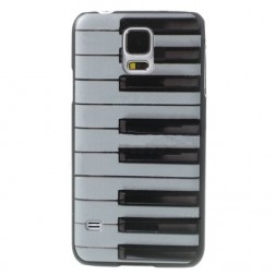 """Piano"" plastmasas futrālis - balts (Galaxy S5 / S5 Neo)"