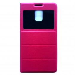 """""""Fashion"""" atvēramais ādas maciņš - rozs (Galaxy S5 / S5 Neo)"""