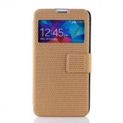 """""""Pīts"""" atvērams maciņš - zelta (Galaxy S5 / S5 Neo)"""