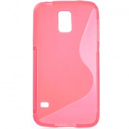 Cieta silikona dzidrs  futrālis - rozs (Galaxy S5 / S5 Neo)
