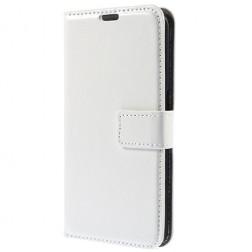 Atvēramais ādas maciņš - balts (Galaxy S6)
