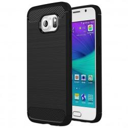 """Carbon"" cieta silikona (TPU) apvalks - melns (Galaxy S6)"