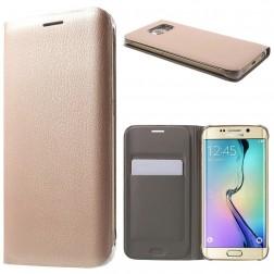 """""""Smart Wallet"""" atvēramais ādas maciņš - rozs (Galaxy S6 Edge)"""
