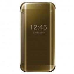 Plastmasas atvērams maciņš - zelta (Galaxy S6 Edge)