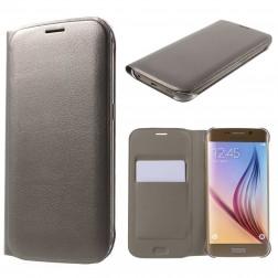 """""""Smart Wallet"""" atvēramais ādas maciņš - šapaniešs (Galaxy S6 Edge)"""