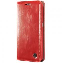 """""""CaseMe"""" solīds atvēramais ādas maciņš - sarkans (Galaxy S6 Edge)"""