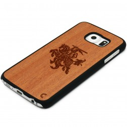 """Crafted Cover"" dabīga koka apvalks - Vytis (Galaxy S6 edge)"