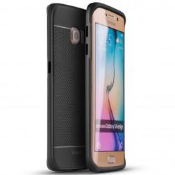 """IPAKY"" cieta silikona (TPU) apvalks - melns / peleks (Galaxy S6 Edge)"
