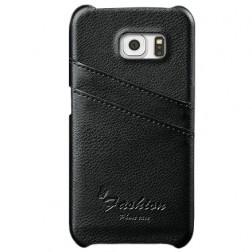 """Vintage"" ādas apvalks - melns (Galaxy S6 Edge)"