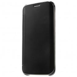 Plastmasas atvērams maciņš - melns (Galaxy S6 Edge)