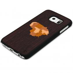 """Crafted Cover"" dabīga koka apvalks - Lietuva (Galaxy S6 edge)"