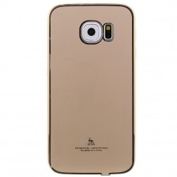 """Luphie"" plastmasas apvalks - zelta (Galaxy S6 Edge)"