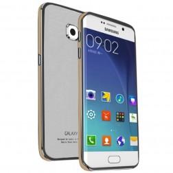 """Luphie"" stikla apvalks - balts / zelta (Galaxy S6 Edge)"