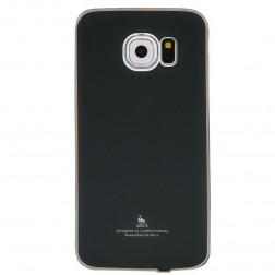 """Luphie"" plastmasas apvalks - melns (Galaxy S6 Edge)"