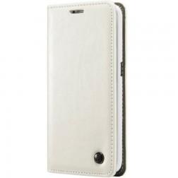 """""""CaseMe"""" solīds atvēramais ādas maciņš - balts (Galaxy S6 Edge+)"""