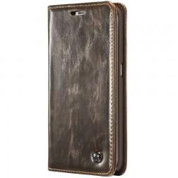 """""""CaseMe"""" solīds atvēramais ādas maciņš - brūns (Galaxy S6 Edge+)"""