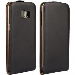 Klasisks atvēramais maciņš - melns (Galaxy S6 Edge+)