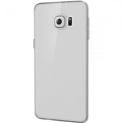 Planākais TPU dzidrs apvalks - pelēks (Galaxy S6 Edge+)