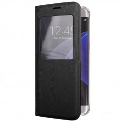 Atvēramais maciņš ar lodziņu - melns (Galaxy S6 Edge+)