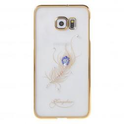 """""""Kingxbar"""" Peacock Swarovski apvalks - zelta (Galaxy S6 Edge+)"""