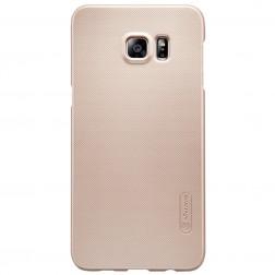 """""""Nillkin"""" Frosted Shield apvalks - zelta + ekrāna aizsargplēve (Galaxy S6 Edge+)"""
