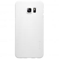 """Nillkin"" Frosted Shield apvalks - balts + ekrāna aizsargplēve (Galaxy S6 Edge+)"