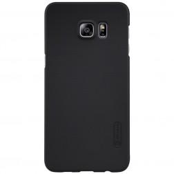 """Nillkin"" Frosted Shield apvalks - melns + ekrāna aizsargplēve (Galaxy S6 Edge+)"