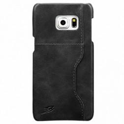 """Retro"" Luxury ādas apvalks - pelēks (Galaxy S6 Edge+)"