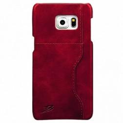 """Retro"" Luxury ādas apvalks - sarkans (Galaxy S6 Edge+)"