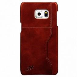 """Retro"" Luxury ādas apvalks - brūns (Galaxy S6 Edge+)"