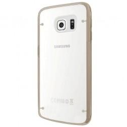 Plastmāsas dzidrs apvalks - zelta (Galaxy S6 Edge+)