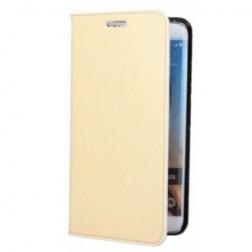 """""""Faux Leather"""" solīds atvēramais ādas maciņš - smilšains (Galaxy S6 Edge+)"""
