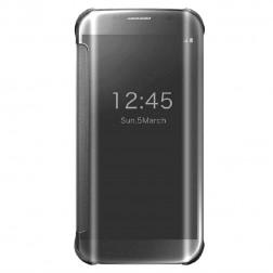 Plastmasas atvērams maciņš - sudrabs (Galaxy S6 Edge)
