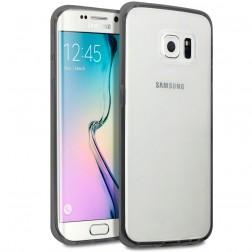 Plastmasas apvalks ar sānu apmale - dzidrs / melns (Galaxy S6 Edge)